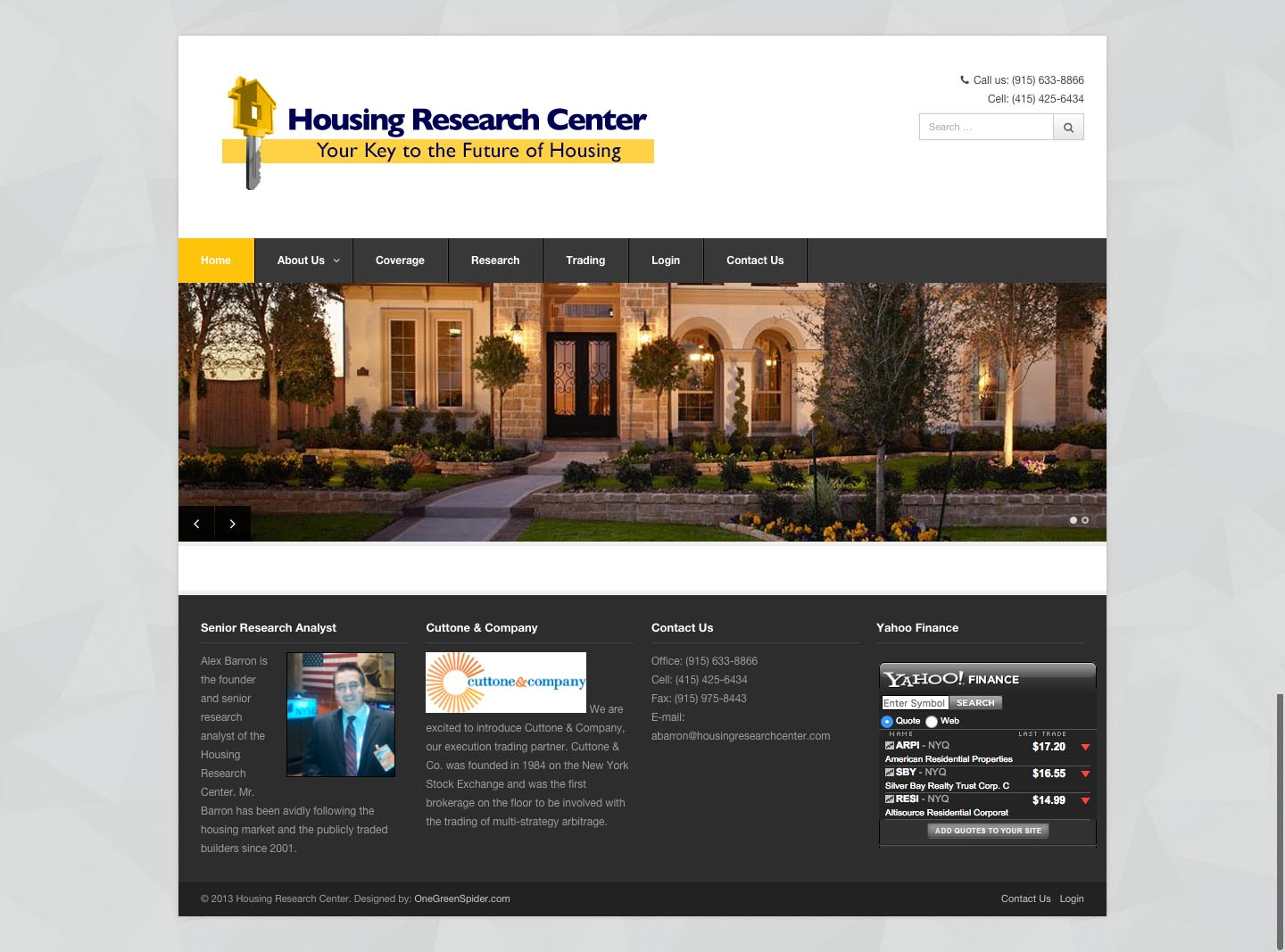 Web Design for Housing Research Center