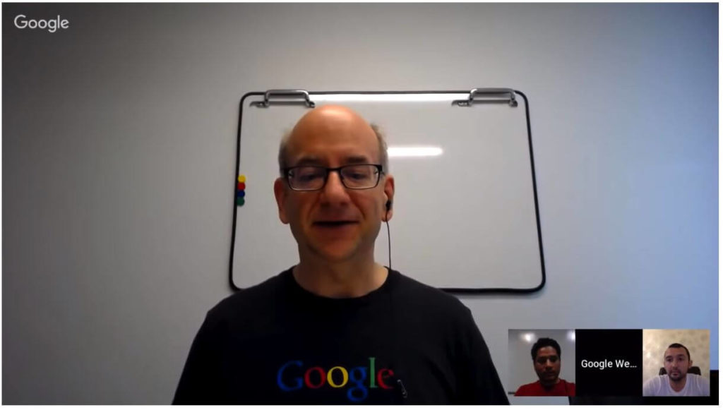 John Mueller discussing page load speed during Google's webmaster hangouts